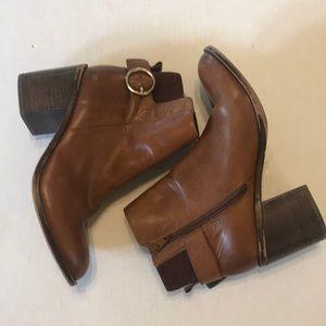 Aldo Rosalee cognac leather ankle bootie size 7
